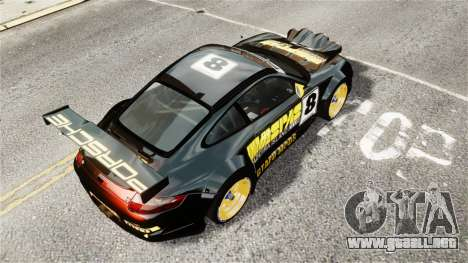 Porsche Rallye Vespas 911 GT3 RSR para GTA 4 Vista posterior izquierda