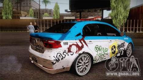 Volkswagen Voyage G6 Pmerj Graffiti para GTA San Andreas left