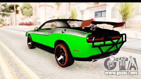 Dodge Challenger F&F 7 para GTA San Andreas left