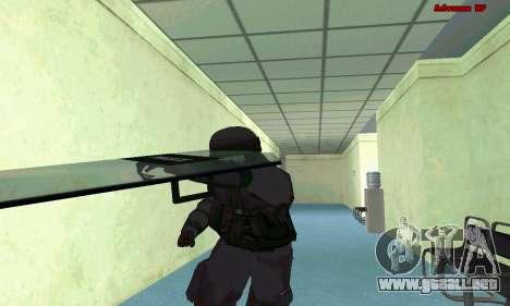 La piel de SWAT GTA 5 (PS3) para GTA San Andreas séptima pantalla