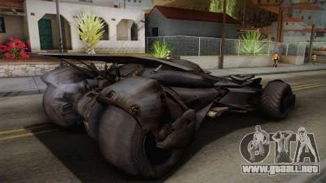 Batman VS Superman Batmobile para GTA San Andreas left
