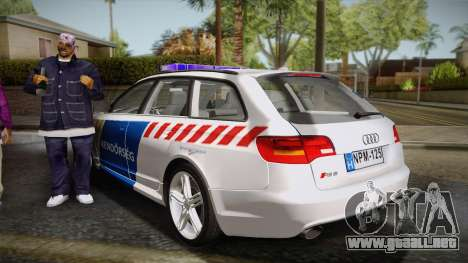 Audi RS6 Hungarian Police para GTA San Andreas left
