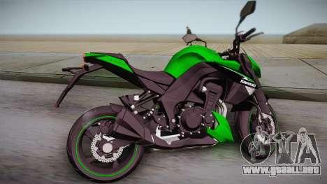 Kawasaki Z1000 2013 para GTA San Andreas left