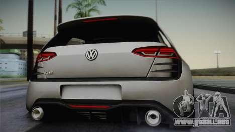 Volkswagen Golf Design Vision GTI para GTA San Andreas vista hacia atrás