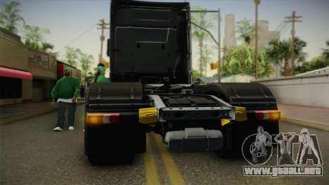 Mercedes-Benz Actros Mp4 6x4 v2.0 Steamspace v2 para visión interna GTA San Andreas
