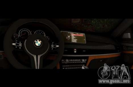 BMW X6M BULKIN SAMP EDITION para GTA San Andreas vista hacia atrás