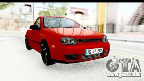 Volkswagen Golf Mk4 Pickup para la visión correcta GTA San Andreas