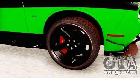 Dodge Challenger F&F 7 para GTA San Andreas vista hacia atrás