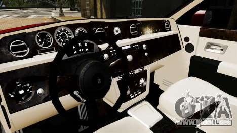 Rolls-Royce Phantom LWB V2.0 para GTA 4 vista interior