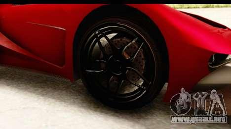 GTA 5 Vapid FMJ IVF para GTA San Andreas vista hacia atrás
