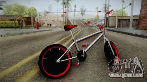 Dark Red BMX para GTA San Andreas left