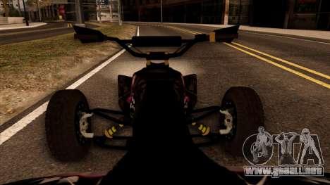 Quad Graphics Skull para GTA San Andreas vista hacia atrás
