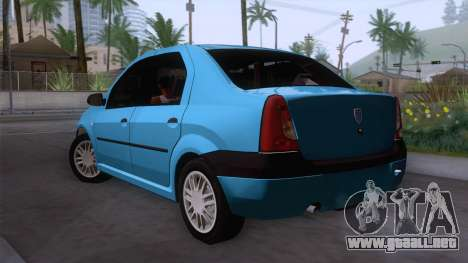 Dacia Logan Prestige 1.6L 16V para GTA San Andreas left