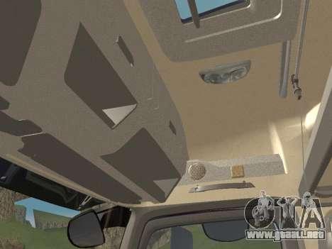 Mercedes-Benz Actros Mp4 6x4 v2.0 Steamspace para vista lateral GTA San Andreas