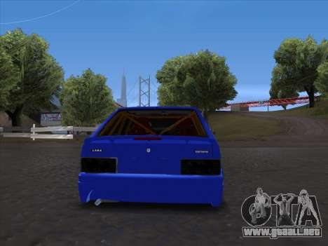 VAZ 2114 Sport para GTA San Andreas vista hacia atrás