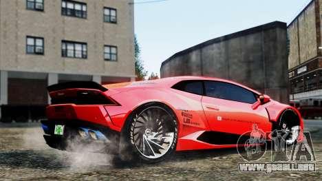 Lamborghini Huracan LB para GTA 4 visión correcta