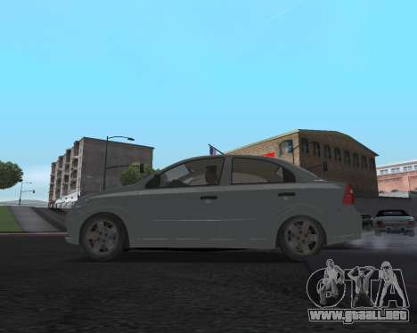Chevrolet Aveo Armenian para GTA San Andreas vista hacia atrás