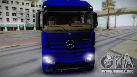 Mercedes-Benz Actros Mp4 v2.0 Tandem Steam para GTA San Andreas vista posterior izquierda