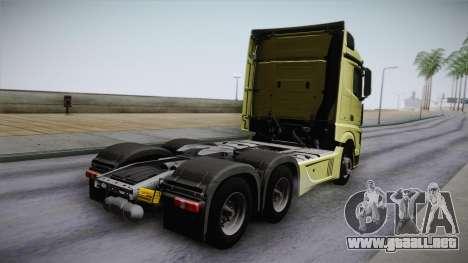 Mercedes-Benz Actros Mp4 6x4 v2.0 Steamspace para GTA San Andreas left