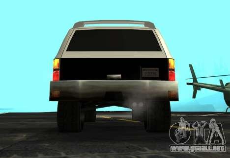FBI Rancher Tuning para GTA San Andreas vista hacia atrás