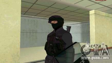 La piel de SWAT GTA 5 para GTA San Andreas