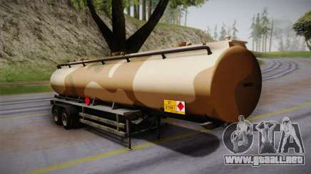 GTA 5 Army Tank Trailer IVF para GTA San Andreas