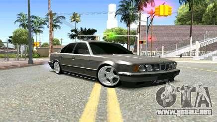 BMW 535i E34 plata para GTA San Andreas