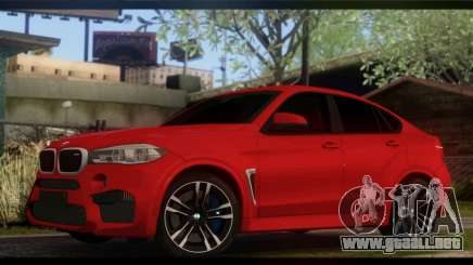 BMW X6M F86 para GTA San Andreas
