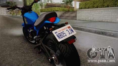 GTA 5 Pegassi Esskey para GTA San Andreas vista posterior izquierda