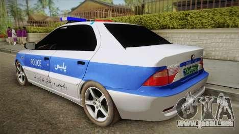 Ikco Samand Police v2 para GTA San Andreas left