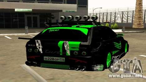 VAZ 2114 DTM GTR TURBO SPORTS AMG para GTA San Andreas vista posterior izquierda