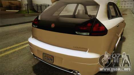 GTA 5 Emperor Habanero IVF para vista lateral GTA San Andreas
