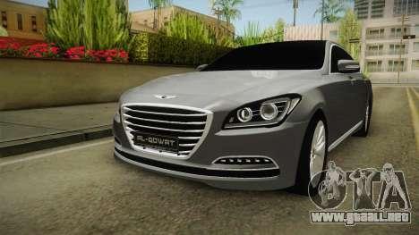 Hyundai Genesis 2016 v1.2 para la visión correcta GTA San Andreas