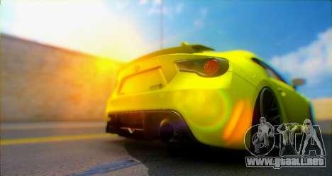 Toyota GT86 2015 Stance para GTA San Andreas vista hacia atrás