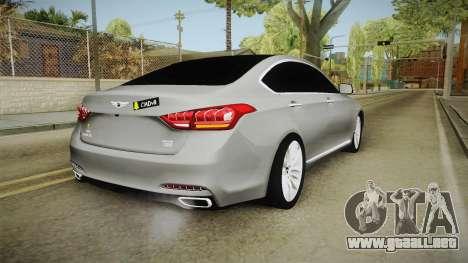 Hyundai Genesis 2016 v1.2 para GTA San Andreas left