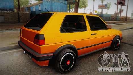 Volkswagen Golf Mk2 GTI .ILchE STYLE. para GTA San Andreas left