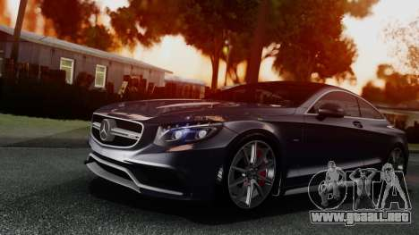Mercedes-Benz S-Class Coupe AMG para GTA San Andreas left