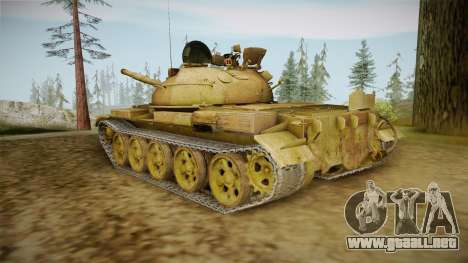 T-62 Desert Camo v3 para GTA San Andreas vista posterior izquierda