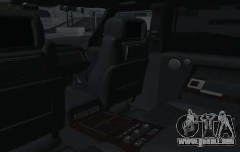 Land Rover Range Rover Vogue para vista lateral GTA San Andreas
