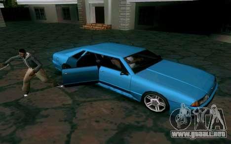 Elegy Sedan para GTA San Andreas vista hacia atrás