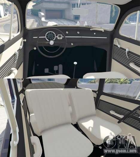 GTA 5 Volkswagen Fusca 1968 v0.9 [add-on] delantero derecho vista lateral