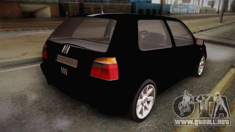 Volkswagen Golf Mk3 Blyatmobile para GTA San Andreas left