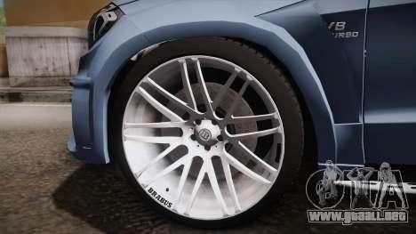 Mercedes-Benz GL63 Brabus para GTA San Andreas vista hacia atrás