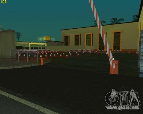 El circuito, como en la escuela de conducción para GTA San Andreas segunda pantalla