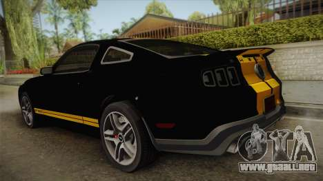 Ford Mustang GT500 para GTA San Andreas left