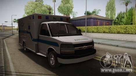 Chevrolet Express 2011 Ambulance para la visión correcta GTA San Andreas