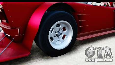 GTA 5 Declasse Tampa Drift IVF para GTA San Andreas vista hacia atrás