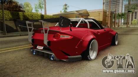 Mazda MX-5 2016 Hachiraito para GTA San Andreas left