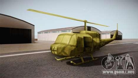 Bell UH-1H from Army Men: Serges Heroes 2 DC para la visión correcta GTA San Andreas
