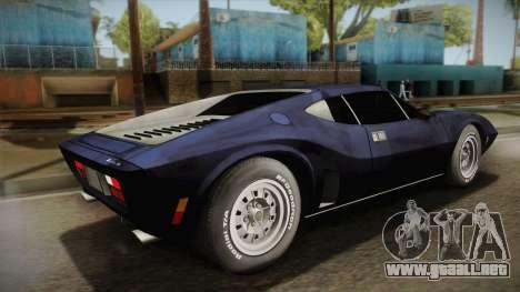 AMC AMX 3 39 1970 para GTA San Andreas left